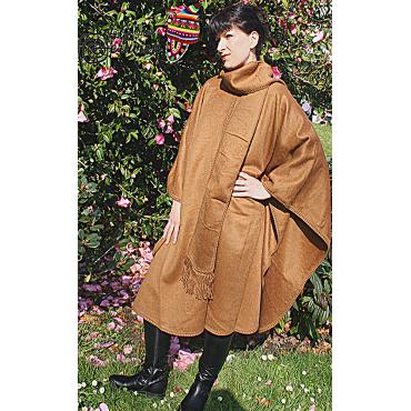 Cape col en écharpe et laine d'apalga