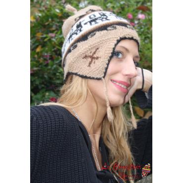 Bonnet péruvien femme